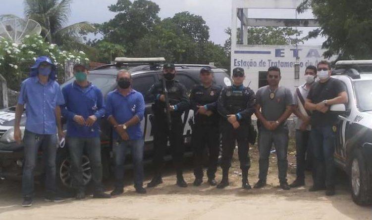 Quatro suspeitos são presos durante operação em combate ao furto de água em Morada Nova
